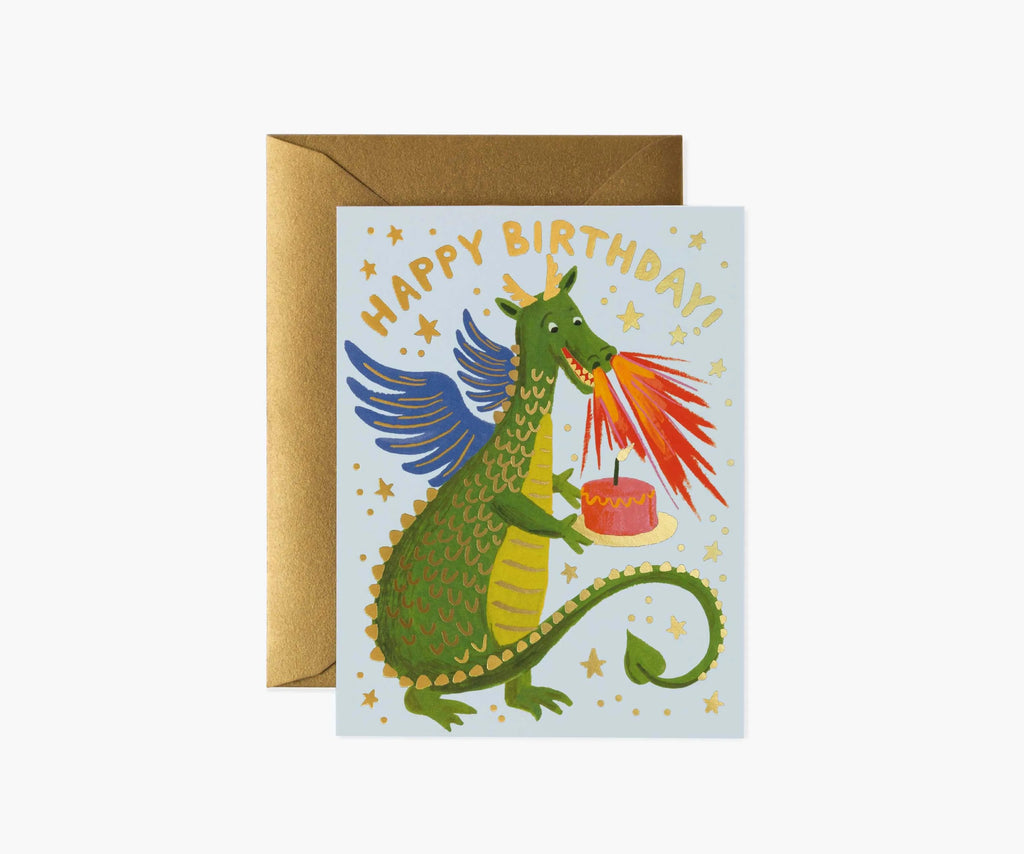 birthday dragon birthday card