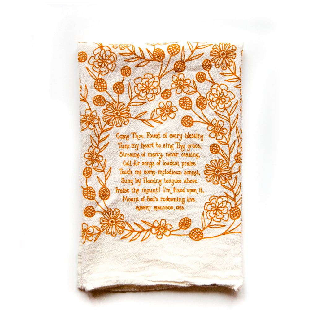 Come Thou Fount Hymn Tea Towel