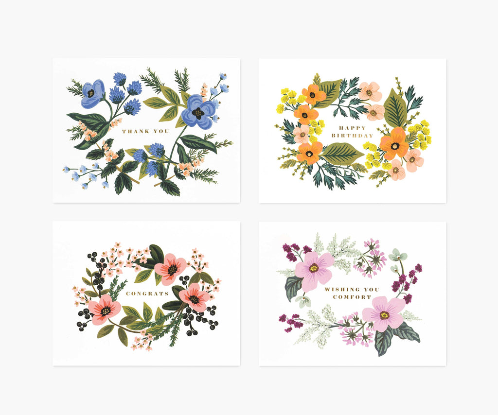 asst bouquet card set