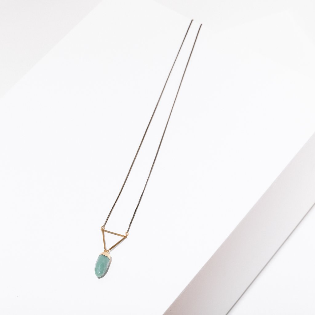 gemme necklace in green aventurine