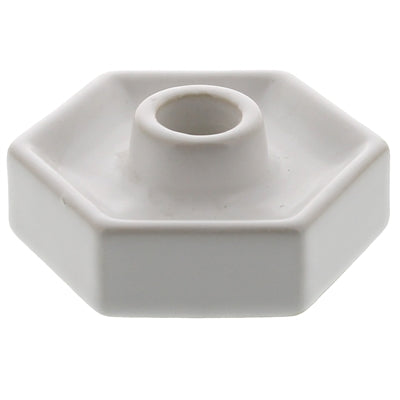 hexagon taper holder white
