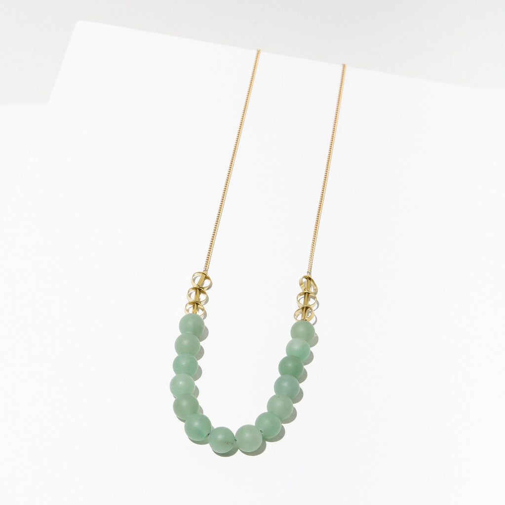 isles necklace in green aventurine
