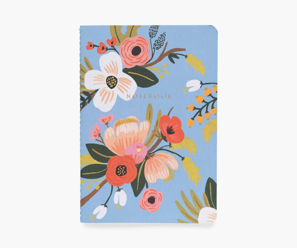 asst set/3 lively floral notebooks