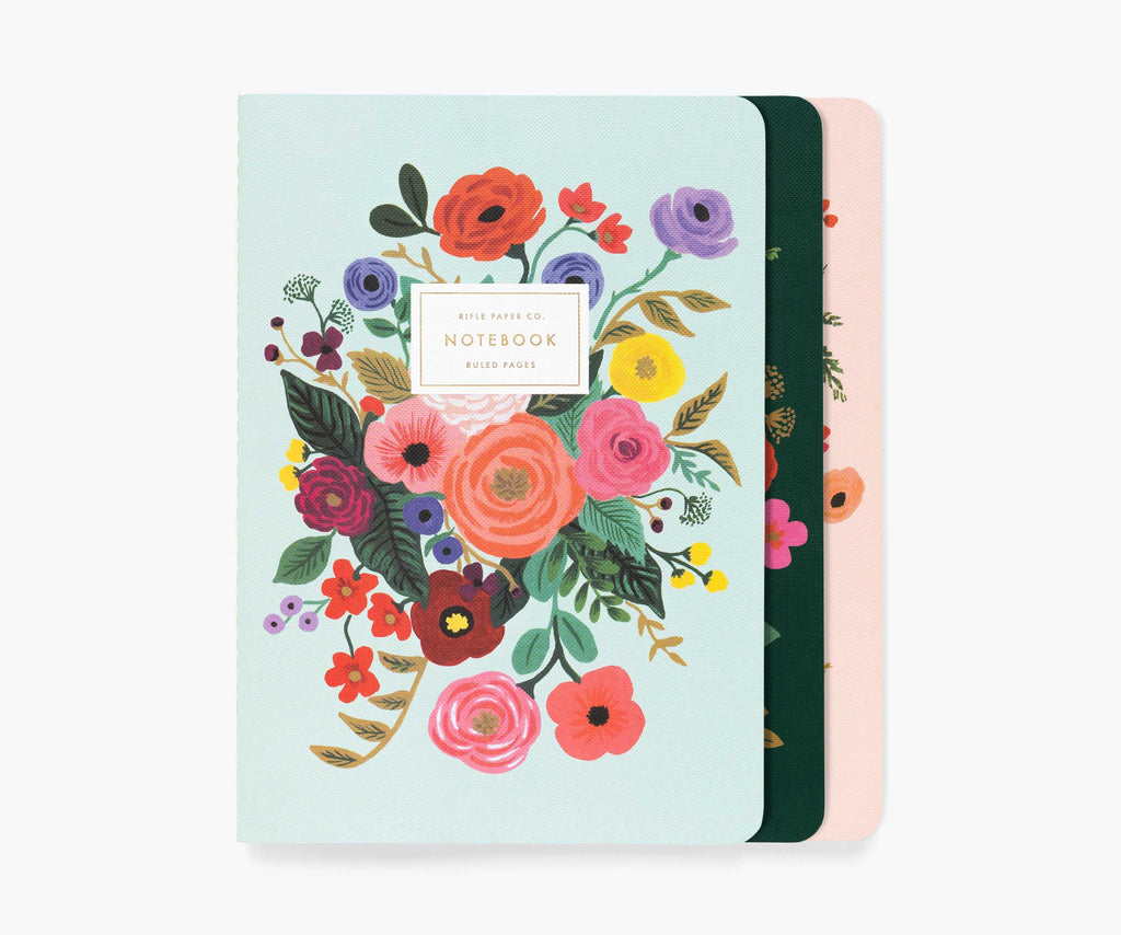 asst set/3 garden party notebooks