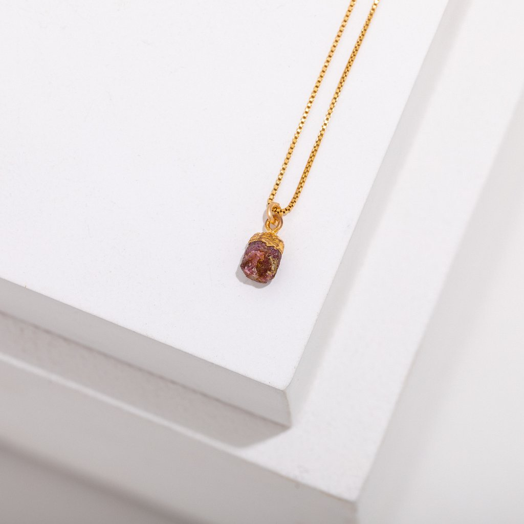 birthstone necklace - july - ruby