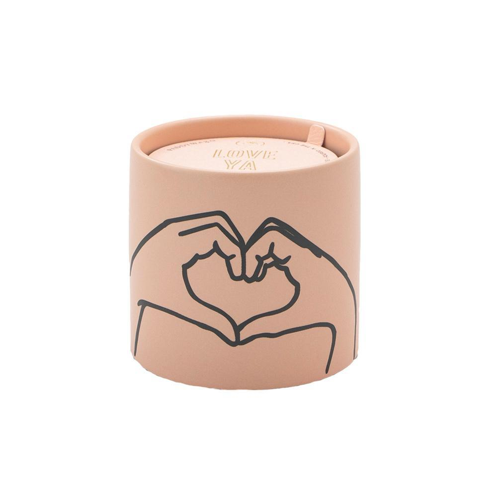 impressions candle with heart