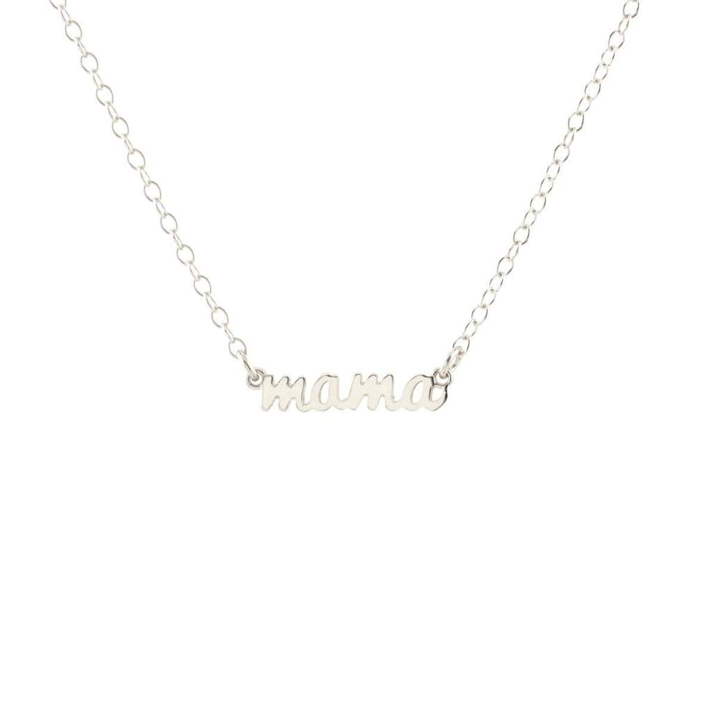 mama charm necklace in silver
