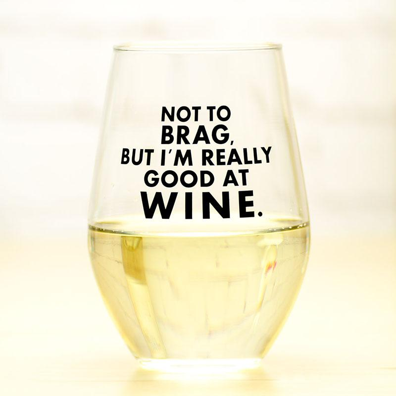 not to brag glass