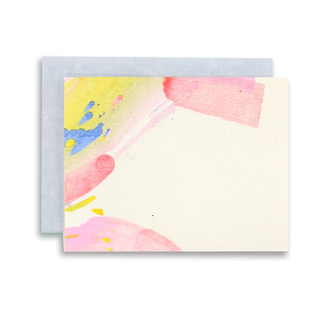 rainbow swirl stationery set