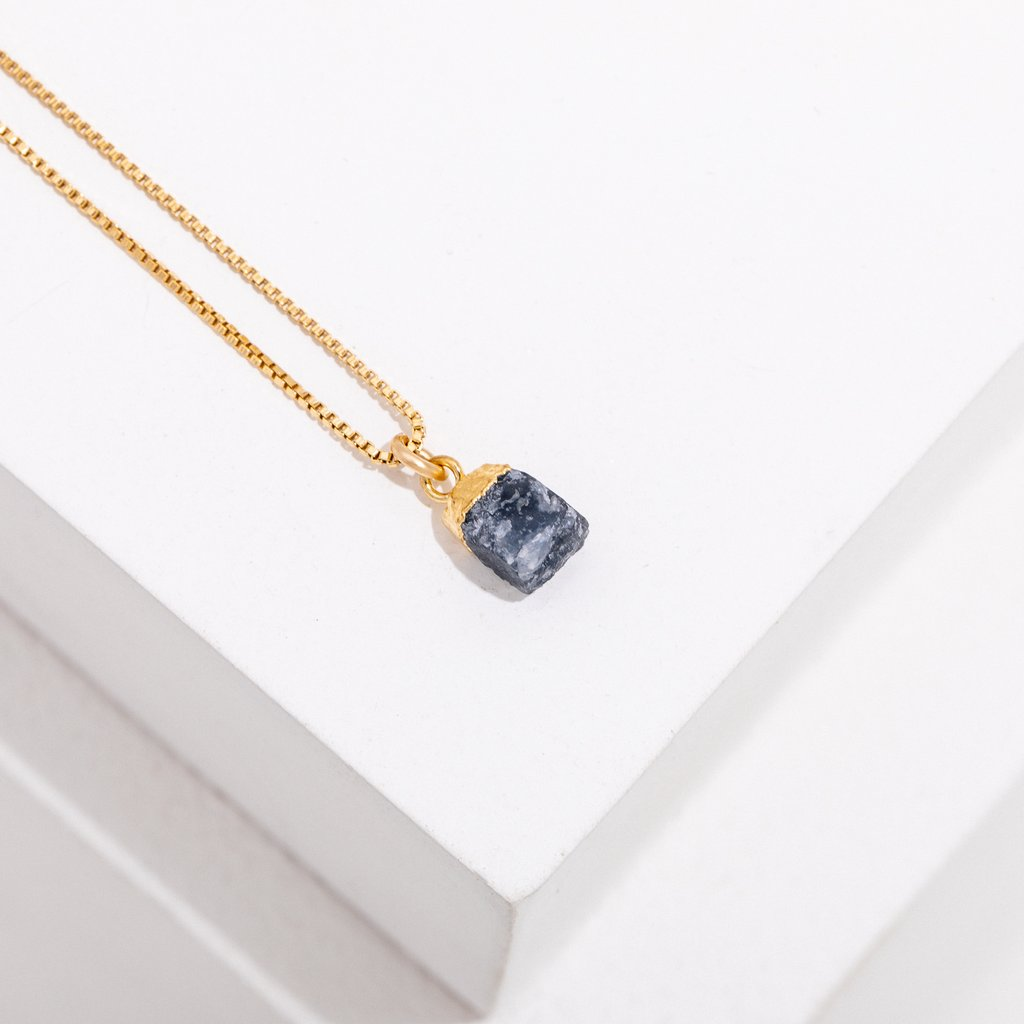 birthstone necklace - september - sapphire