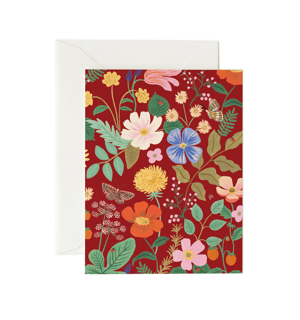 strawberry fields card red