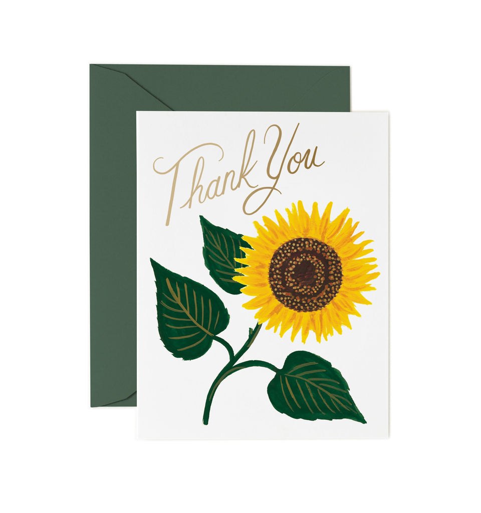 sunflower thank you card