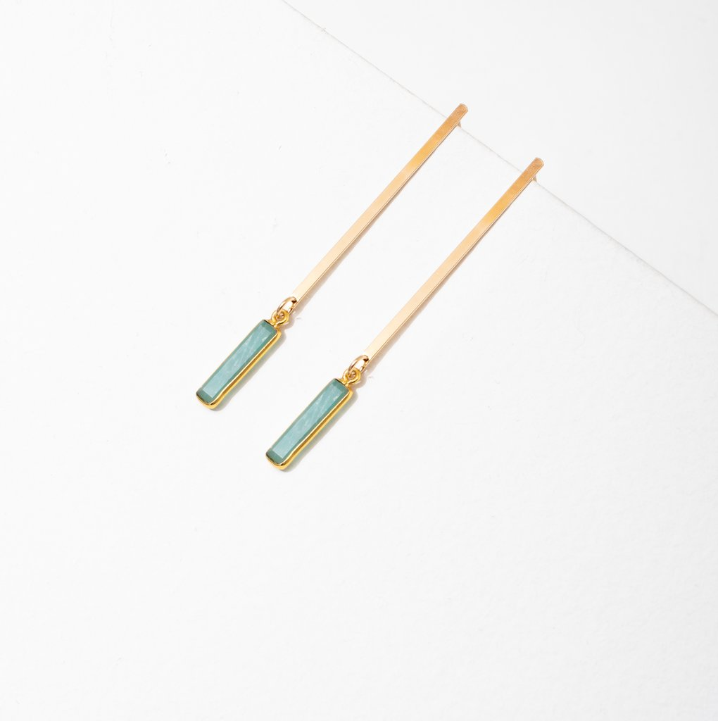 sydney earrings in amazonite