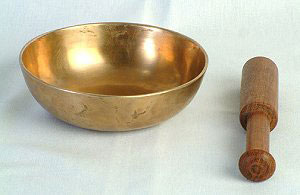"8"", lower-sided singing-bowl"