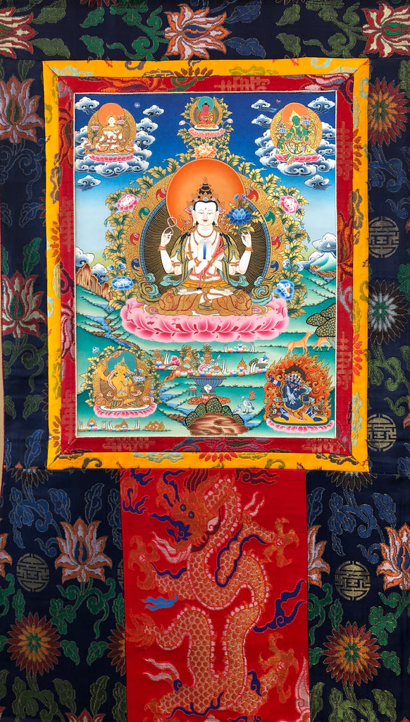 "Avalokitesvara with Retinue 15"" x 20"""