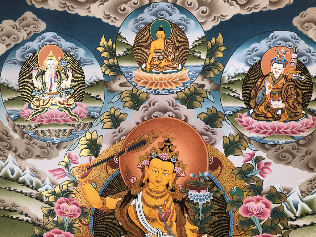 "Manjushri With Retinue 15"" x 20"""