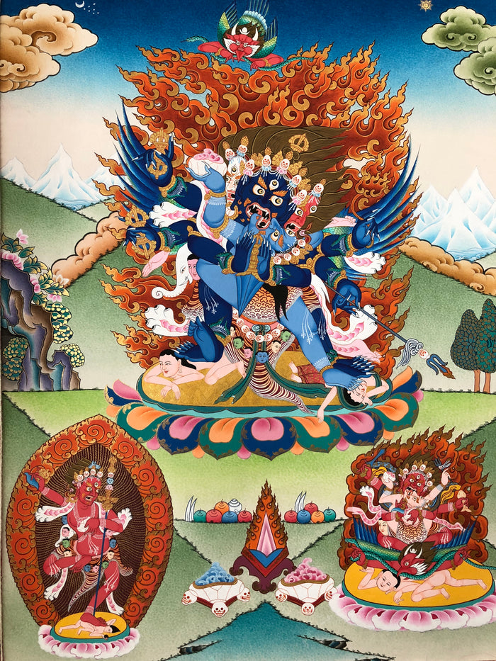 "Vajrakilaya with Retinue 15"" x 20"""