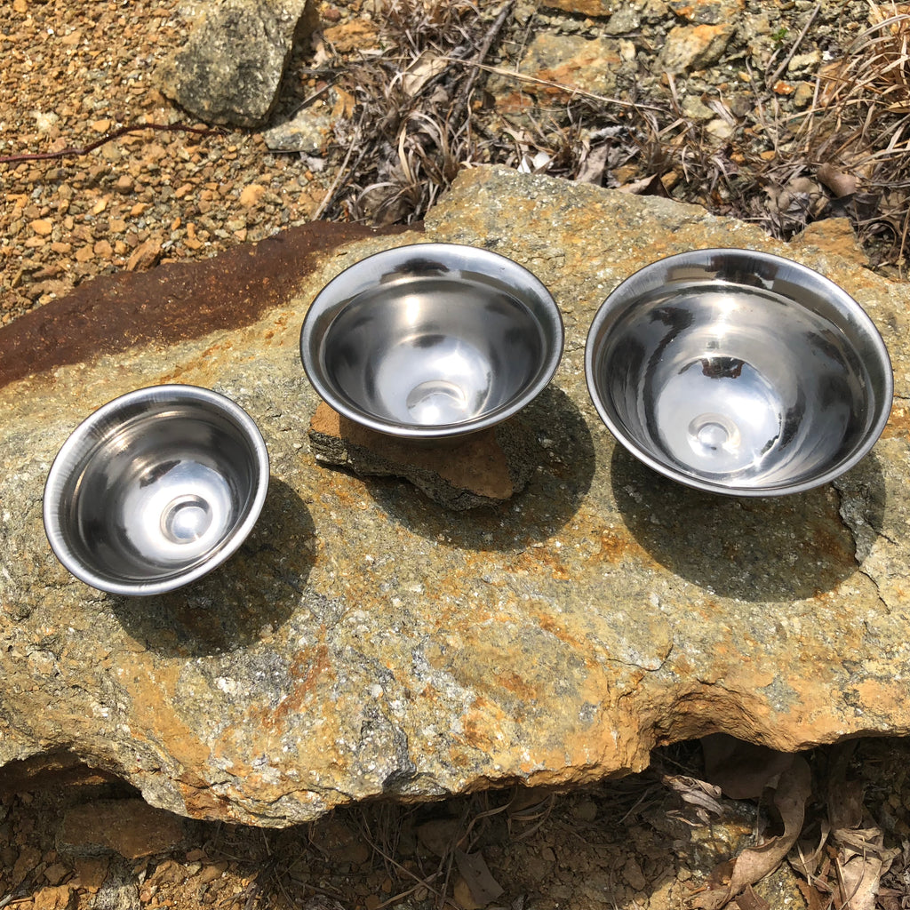 stainless steel offering bowls
