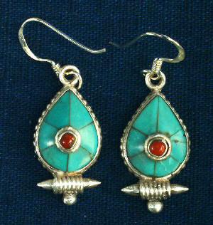 tear drop ghau style earring