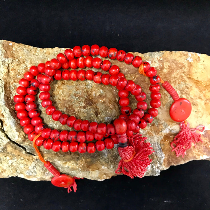 bone red mala 8mm
