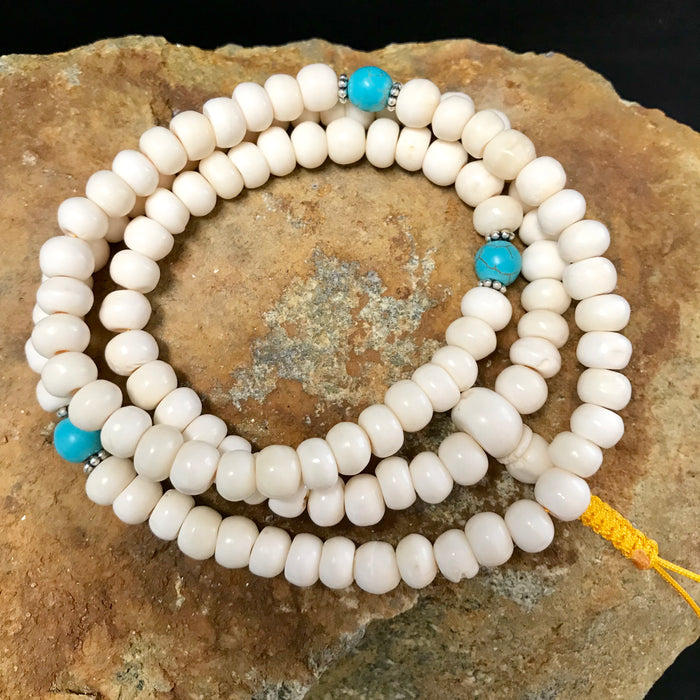 bone white mala 7mm #3