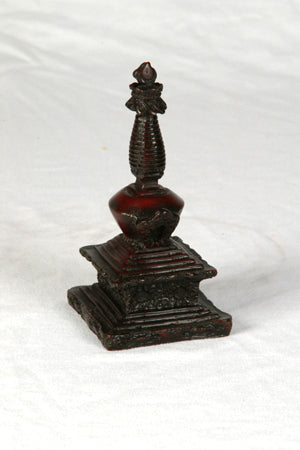 resin stupa w/ carved detail