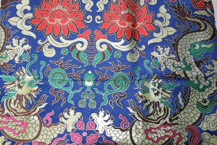 "brocade style w/lotus & dragon - 28"" wide"