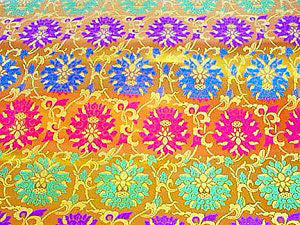 "brocade style variegated lotus - 29"" wide"