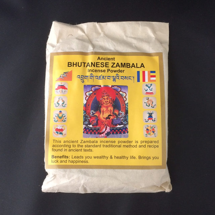 Ancient Bhutanese Dzambala Incense Powder