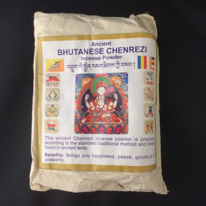 Ancient Bhutanese Chenrezig Incense Powder