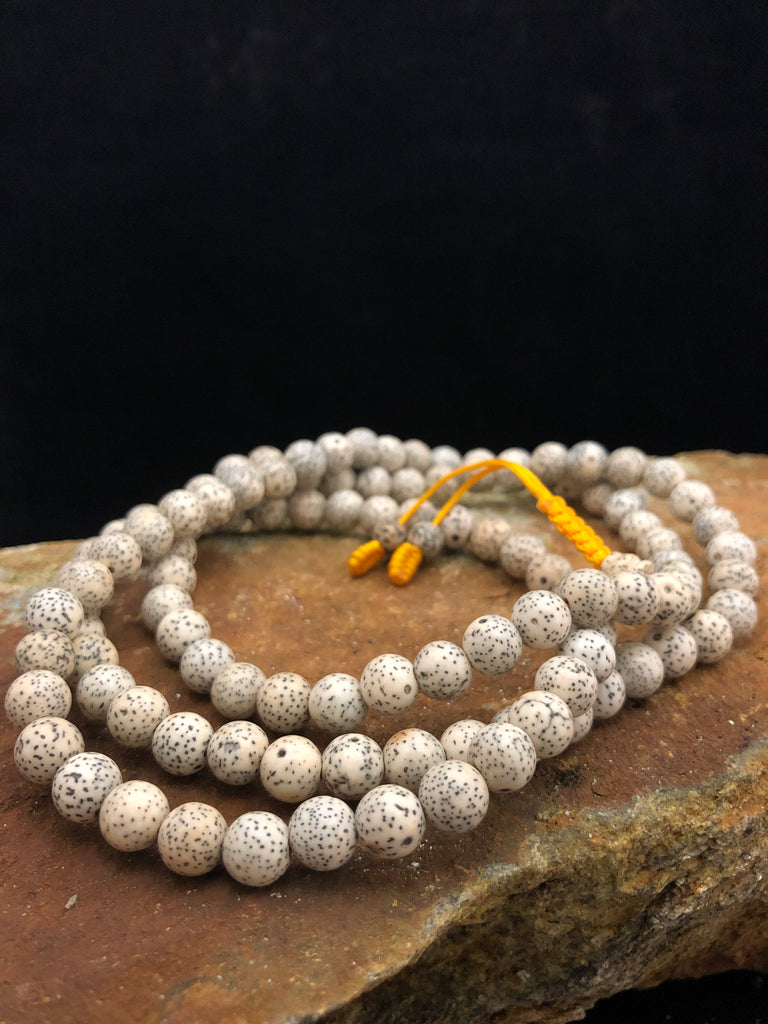 lotus seed mala - 8mm/plain
