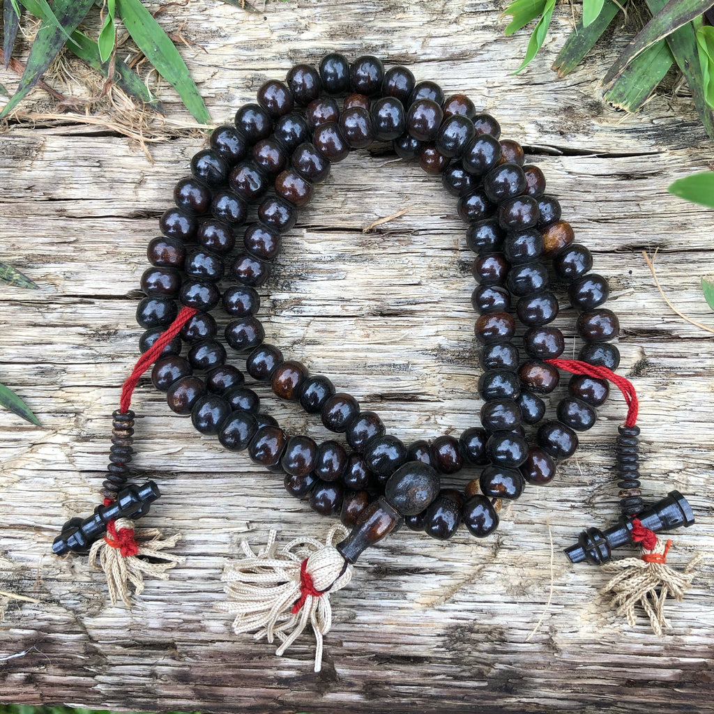 Bone Dark Brown Mala