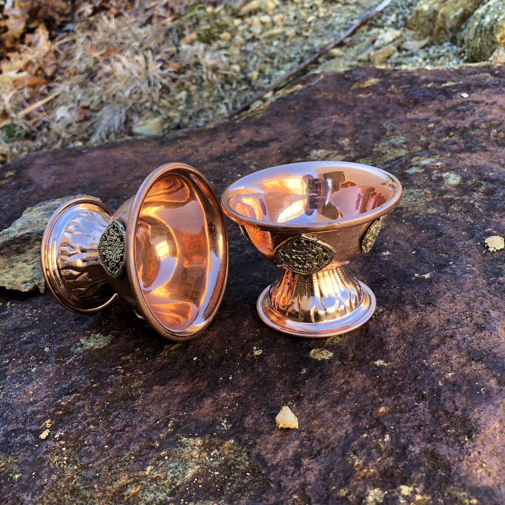 Copper Offering-Bowls w/Medallion #2