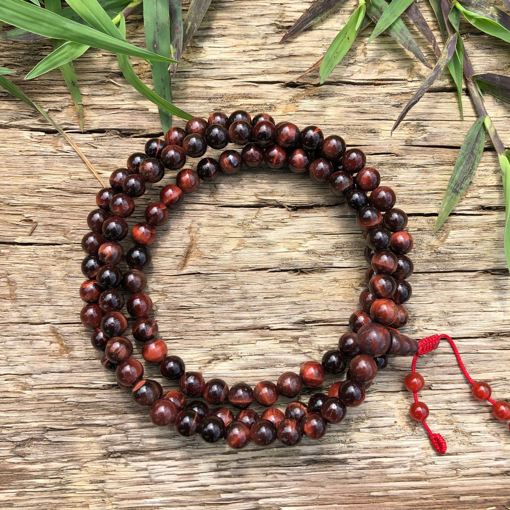 Red Tiger's Eye Mala