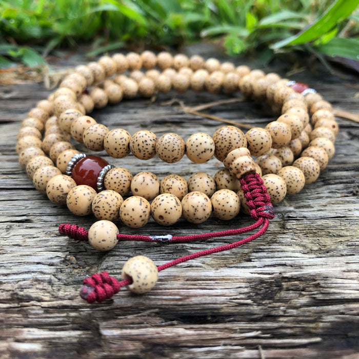 Lotus Seed Mala w/Spacers