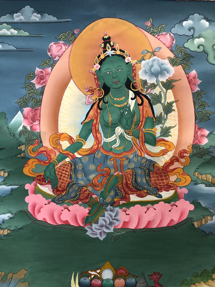 Green Tara/Drolma Thangka