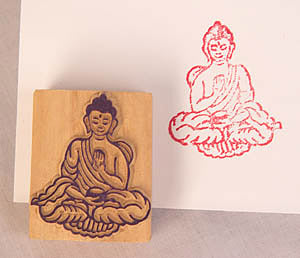seated Buddha stamp