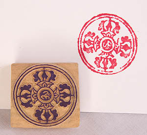 double-vajra stamp