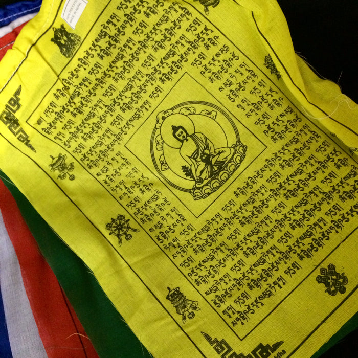 "Medicine Buddha prayer flags – 9.5""x 11.5"""