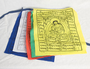 "Milarepa prayer flags - 9.5"" x 11.5"""