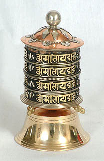 4-row mantra prayer wheel for table