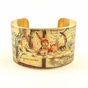 Mad Hatter Tea Party Cuff Bracelet