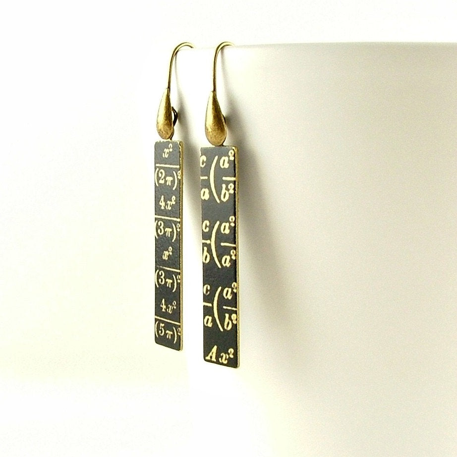 Maths Equation Earrings