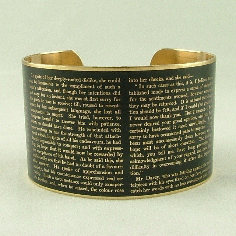 Jane Austen's Pride and Prejudice Cuff Bracelet