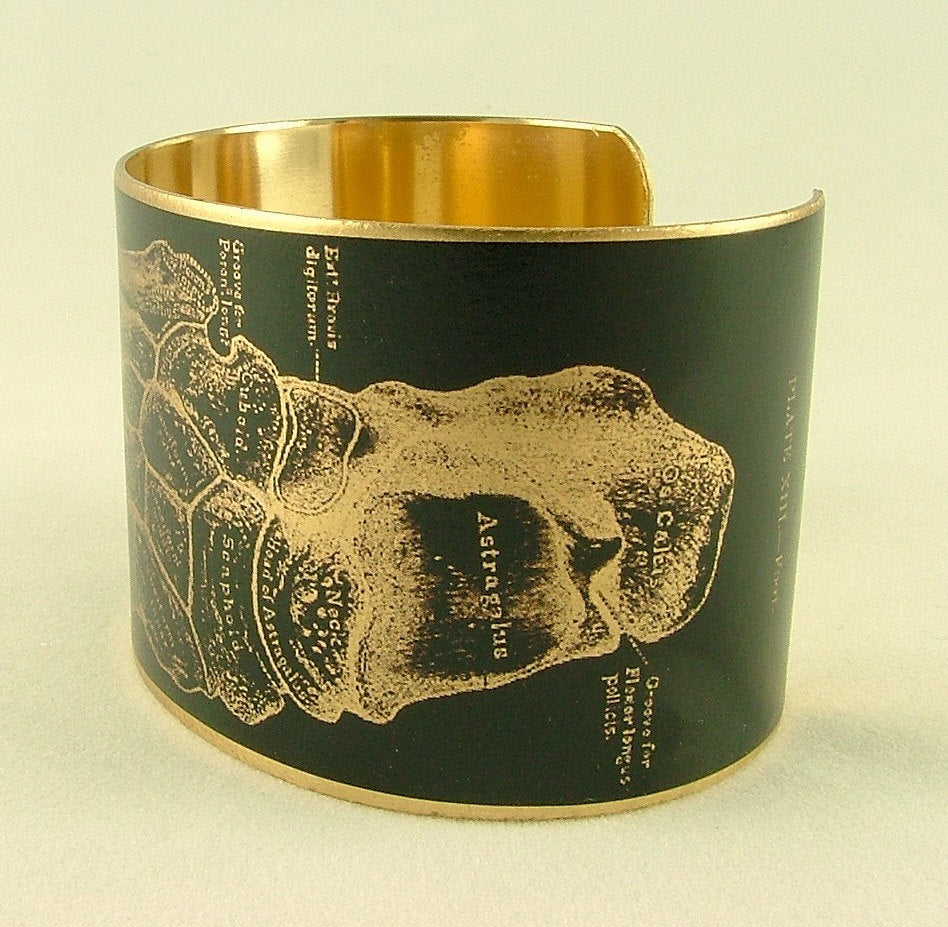 Anatomical Foot Bones Cuff Bracelet