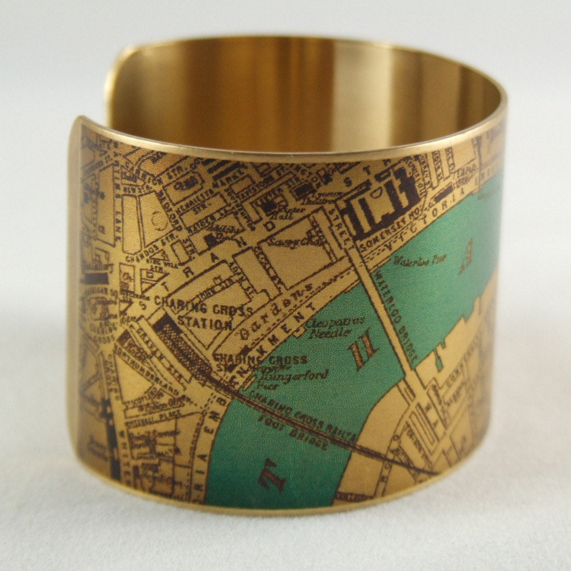 River Thames London Bridge Cuff Bracelet