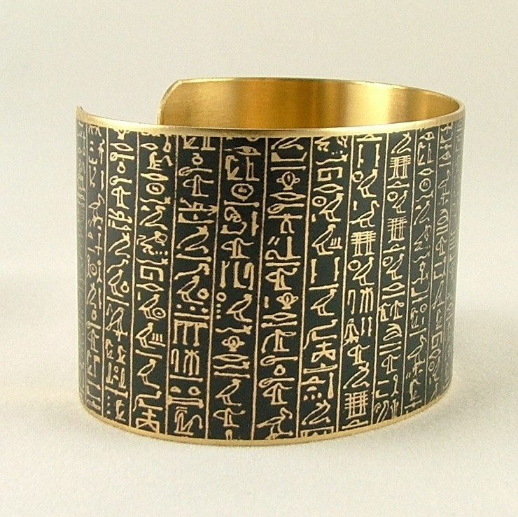 Egyptian Book of the Dead Cuff Bracelet