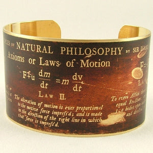 Physics Cuff Bracelet - Sir Isaac Newton