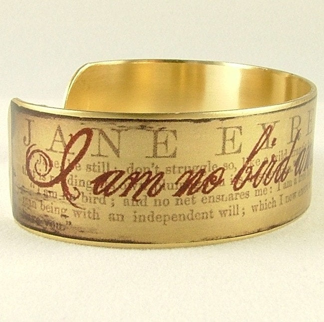 Jane Eyre Quote Cuff Bracelet