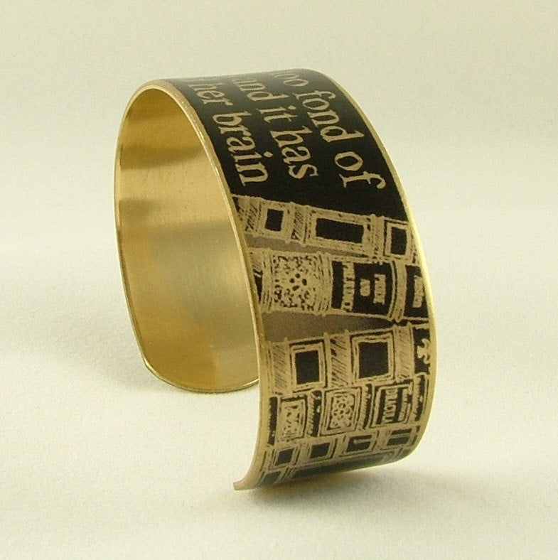 She Is Too Fond Of Books Cuff Bracelet